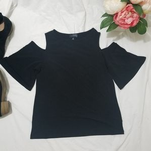 The Limited Cold Shoulder Blouse Bell Sleeve sz S